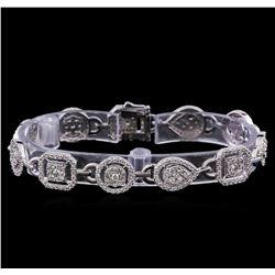 4.89 ctw Diamond Tennis Bracelet - 14KT White Gold