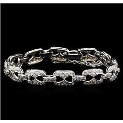 3.05 ctw Diamond Bracelet - 14KT White Gold