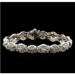 2.53 ctw Diamond Bracelet - 14KT White Gold
