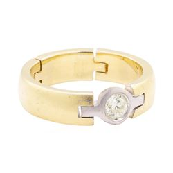 0.26 ctw Diamond Ring - 14KT Yellow And White Gold