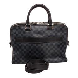 Louis Vuitton Damier Cobalt Canvas Leather Porte Document Business Bag