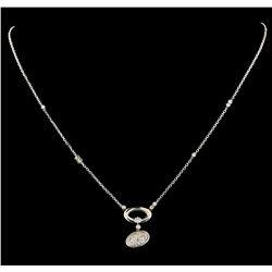 0.68 ctw Diamond Necklace - 14KT White Gold