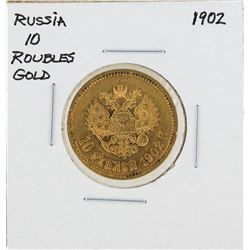 1902 Russia 10 Rubles Gold Coin