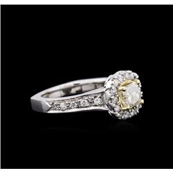 1.25 ctw Diamond Ring - 14KT Two-Tone Gold