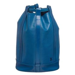 Louis Vuitton Blue Epi Leather Randonne GM Backpack Bag