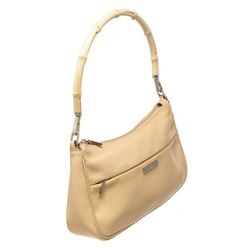 Gucci Beige Leather Bamboo Small Shoulder Bag
