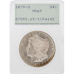 1879-S $1 Morgan Silver Dollar Coin PCGS MS65 Old Green Rattler