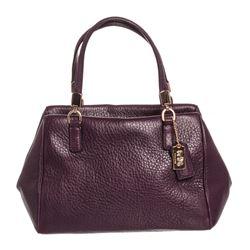 Coach Purple Pebbled Leather Small Satchel Handbag