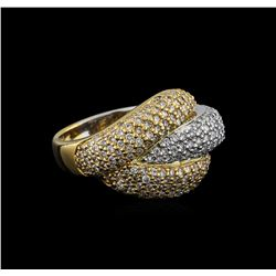 1.30 ctw Diamond Ring - 14KT White and Yellow Gold