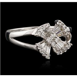 18KT White Gold 0.20 ctw Diamond Ring