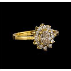 0.95 ctw Diamond Ring - 14KT Yellow Gold