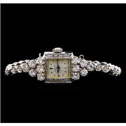 Hamilton 14KT White Gold Diamond Vintage Ladies Watch