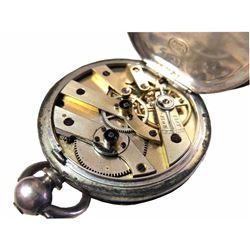 Fine Silver .99 Ladies Pocket Watch