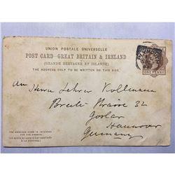 1800s London Original Postmarked Handwritten Post Card