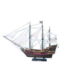 """Captain Kidd's Adventure Galley Limited Model Pirate Ship 36"""" - White Sails"""