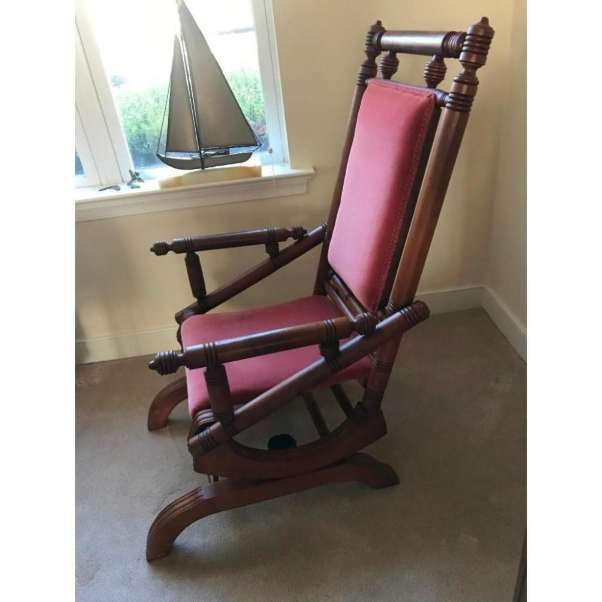 Amazing Antique Gentlemans Platform Rocker Gmtry Best Dining Table And Chair Ideas Images Gmtryco
