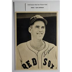 1948 Boston Red Socks  Picture Pack- Earl Johnson