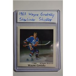 1983 Wayne Gretzky Starliner Sticker - Mint (Rare)