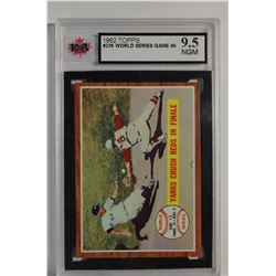 1962 Topps #236 World Series Game 5/Yanks Crush Reds