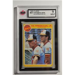1985 Fleer #641 Cal Ripken Jr./Cal Ripken Sr.