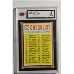1962 Topps #22 Checklist 1