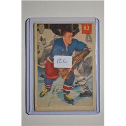 1954-55 Parkhurst #83 Ike Hildebrand RC