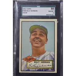 1952 Topps #394 Billy Herman CO - (8-NM-MT)