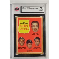 1962 Topps #51 AL Batting Leaders