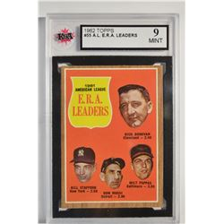 1962 Topps #55 AL ERA Leaders