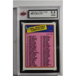 1988-89 O-Pee-Chee #99B Checklist 1-132