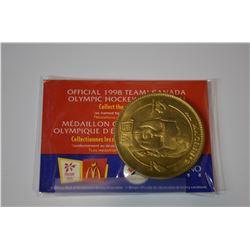 1998 MCDONALDS OLYMPICS TEAM CANADA MEDALLION COIN
