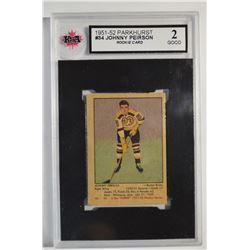 1951-52 Parkhurst #34 Johnny Peirson RC