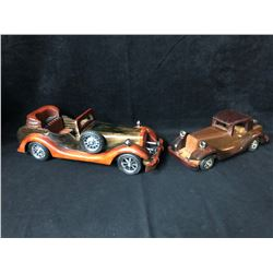 COLLECTIBLE VINTAGE WOODEN CARS LOT