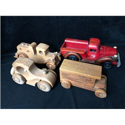 COLLECTIBLE WOODEN TRUCK LOT