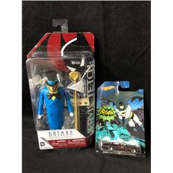 BATMAN HOT WHEELS/ JOKER DC COLLECTIBLE FIGURE LOT