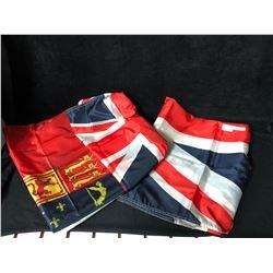SILK FLAG LOT (UNION JACK & BRITISH COLUMBIA) 3FT X 6FT