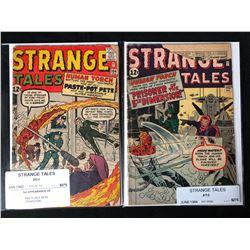 1960'S STRANGE TALES COMIC BOOK LOT #104/ #103
