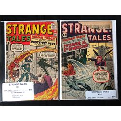 1960'S STRANGE TALES COMIC BOOK LOT #104/ #103