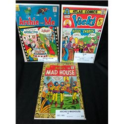 1960-70's COMIC BOOK LOT (ARCHIE & ME/ VICKI/ MAD HOUSE)