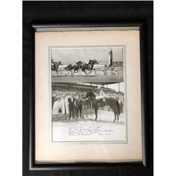 1965 ORIGINAL FRAMED PHOTO FROM WINNER'S CIRCLE (EXHIBITION PARK, VANCOUVER BC)
