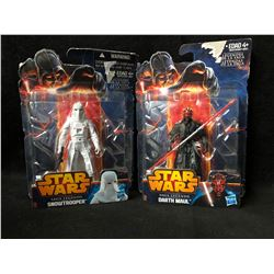 STAR WARS ACTION FIGURES LOT (SNOWTROOPER/ DARTH MAUL)