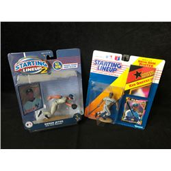 STARTING LINEUP BASKETBALL ACTION FIGURES LOT (JETER/ GRIFFEY JR.)