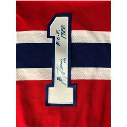 GUY LAFLEUR SIGNED JERSEY NUMBER W/ CANADIENS HOCKEY JERSEY