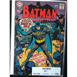 BATMAN #201 (DC COMICS) 1968