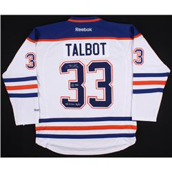 "Cam Talbot Signed LE Edmonton Oilers Jersey Inscribed ""42 Wins 16/17"" (AJ Sports COA)"