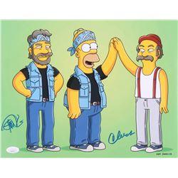 "Cheech Marin & Tommy Chong Signed ""The Simpsons"" 11x14 Photo (JSA COA)"