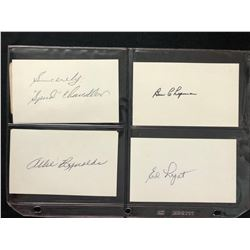 AUTOGRAPHED INDEX CARDS (BASEBALL PLAYERS)