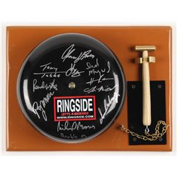 Authentic Full-Size Ringside Boxing Bell Signed by (9) Moorer, Mercer, Whitaker, Tubbs (MAB Holo)