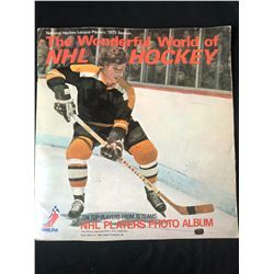 1973 THE WONDERFUL WORLD OF NHL HOCKEY PHOTO ALBUM (COMPLETE)
