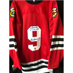 BOBBY HULL SIGNED BLACK HAWKS JERSEY INSCRIBED THE GOLDEN JET (JUST IN CASE COA)